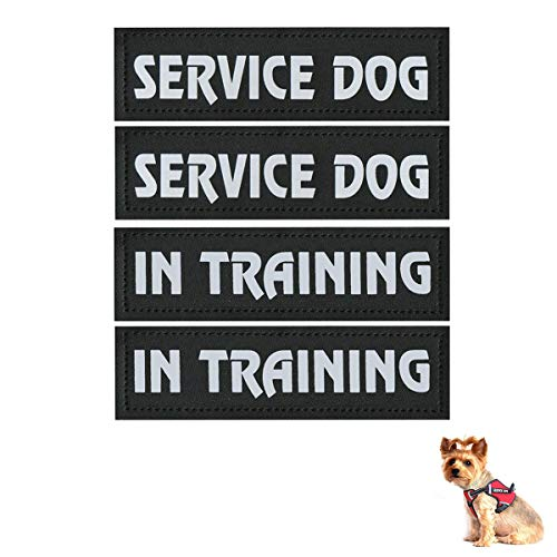 Homiego 4 Pack Luminous Service Dog Velcro in Training Patch,...
