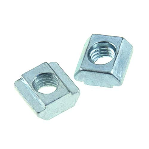 Binzzo T Nuts Tee Sliding Slot Nuts 20 Series M3 Threaded Slide in Pre-Assembly for 20x20 Aluminum Extrusions Frame with Profile 2020 Sereis 6mm Slot for CNC Router Build Rail 3D Printer 50pcs