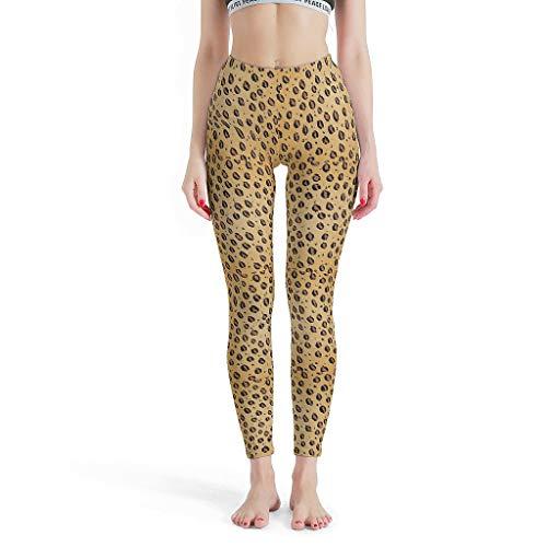 XJJ88 Sexy Womens Leggings, Luipaard Graan Patten afdrukken Leggings Capri Workout Panty's -Hot Capris voor vrouwen gebreide taille