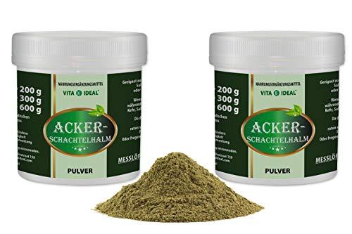 VITA IDEAL ® Ackerschachtelhalm 2x300g ohne Zusatzstoffe (Zinnkraut, Equisetum arvense, field horsetail) + Messlöffel