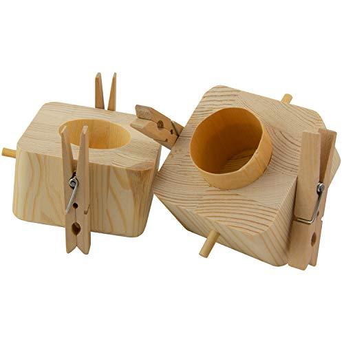 Beziehungskiste (2 Ringe) – zu zweit öffnen – gravierte Verpackung für Geldgeschenke für das Brautpaar – Geld verpacken für Hochzeitsgeschenke mit Gravur – Trickkiste personalisiert mit Namen - 5