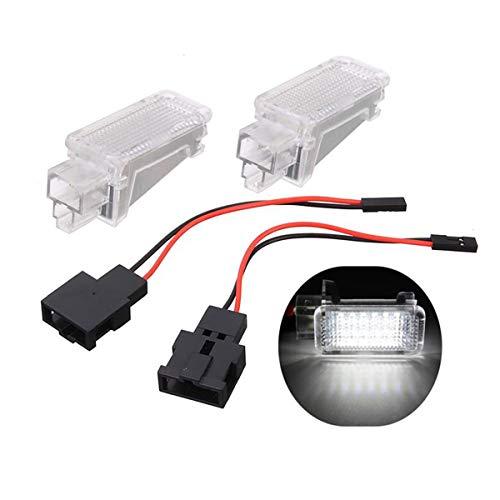 GOFORJUMP 2 Unids 12 V Luz de Proyector LED Cortesía de Coche para A/UDI A3 A4 A6 V/W S/Koda Pie Luces de Nido Fantasma Sombra Luz Lámpara 6500K