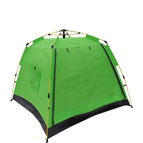 WZP-Instant Pop Up Camping Tents for 3-4 Person Family, Dome Waterproof Sun Shelters Backpacking Tents Quick Set up for Outdoor Garden, Camping, Fishing, Picnic,Green