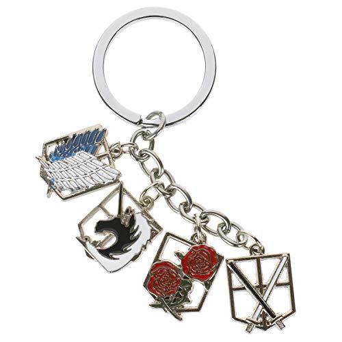 CoolChange Attack on Titan Schlüsselanhänger mit Wappen der Einheiten
