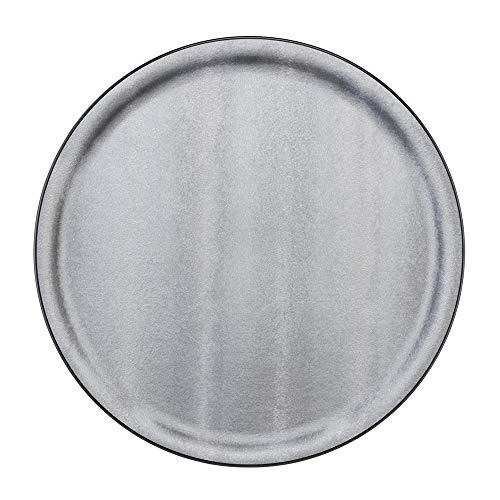 PLATEX 90036831 Plateau Plastique-SOLFETO Silver, Chrome, 36