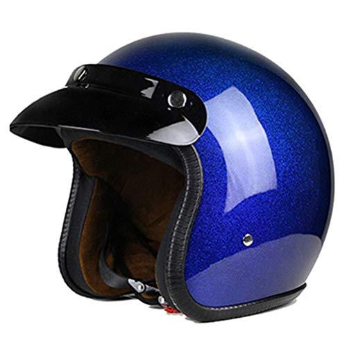 Harley Jethelme Retro 3/4 Integralhelm Motorrad Leder Retro Chopper Roller Cafe Racer Moto Helm DOT