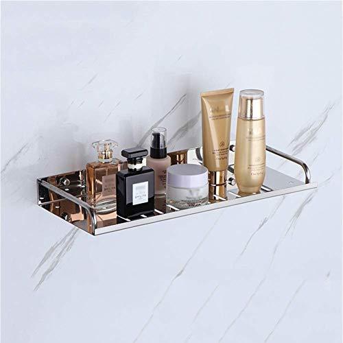GANE Soporte para baño, estantes para baño, Organizador de estantes para Montaje en Pared, Estante para baño sin Costuras de Acero Inoxidable, 50 cm
