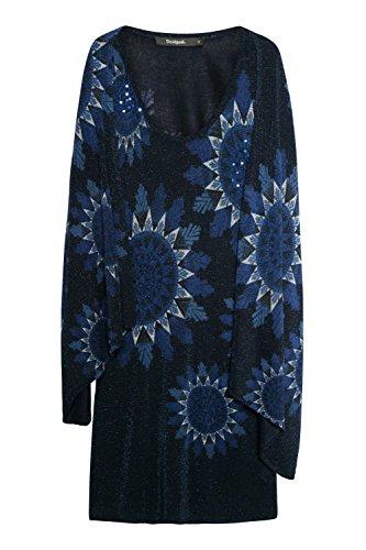 Desigual Vest_Helen Vestido, Azul (Navy 5000), Large para Mujer