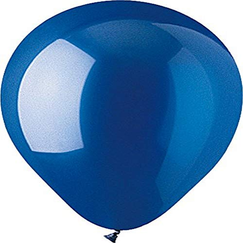 "CTI Industries 100 Count Crystal Latex Balloons, 12"", Sapphire Blue"