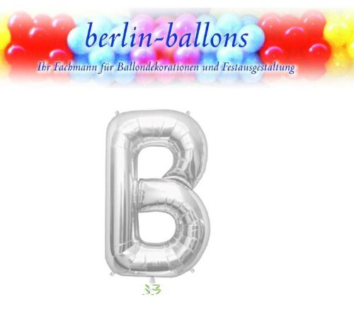Silver Letter B 34 Inch Foil Balloon by Northstar Balloons