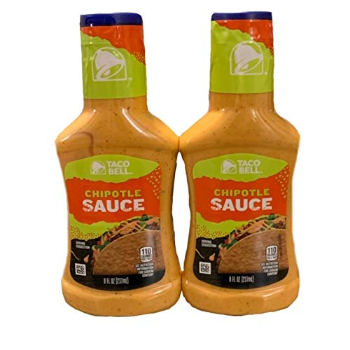 Taco Bell Chipotle Sauce | Chipotle Sauce 8 oz | Great for Tacos, Wraps, and Salads | Pack of 2 | 8 oz Each