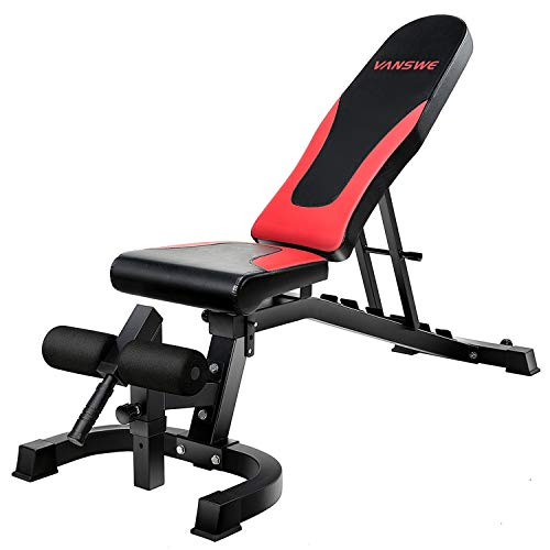 Vanswe Adjustable Weight Bench 800 lbs Flat/Incline/Decline Utility Exercise Workout Bench Sit Up...