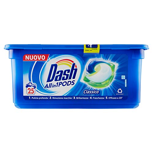 Dash Detergente en cápsulas para lavadora, 25 x 25,2 g