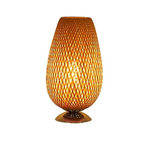 Lámpara de mesa de noche Nordic simple sala de mesa de dormitorio de la lámpara de cabecera de la lámpara de mesa de estudio lámpara de lectura de la lámpara lámpara de cabecera de bambú Lámparas de m