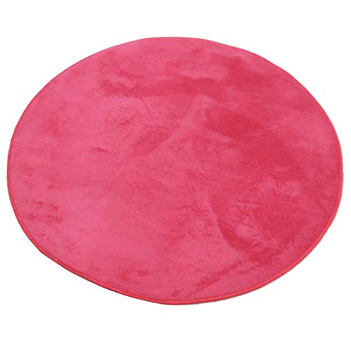 Générique Sharplace 1M Tapis Super Doux Coussin Pad en Polaire Corail Tapis de Sol pour Enfants Tapis de Jeux et d'Eveil Tente Maison - Rose Rouge