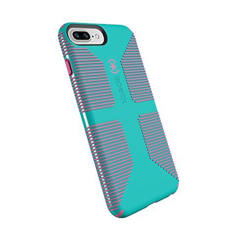 spec iphone 7 plus cases Speck Products CandyShell Grip Cell Phone Case for iPhone 8 Plus/7 Plus/6S Plus/6 Plus - Caribbean Blue/Bubblegum Pink
