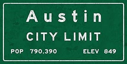 HBA Austin City Limit - Señal de metal, Texas, población, censo, viajes