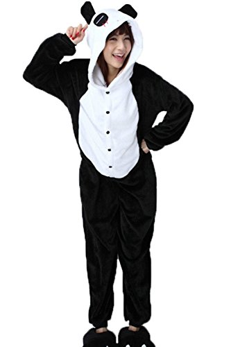 Anbelarui Panda Tier Jumpsuits Pyjama Oberall Hausanzug Fastnachtskostuem Schlafanzug Cosplay Kostüme Unisex Tieroutfit tierkostüme (S (145-155CM))