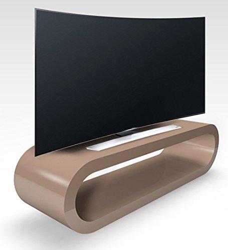 Zespoke Cerceau de Style Rétro Grande Capuchino Rétro Haute Brillance Meuble TV/Armoire 110cm