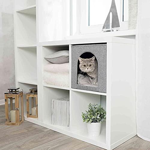 TRIXIE Cueva Suave Ella para estantería, 33 × 33 × 37 cm, Gris, Gato