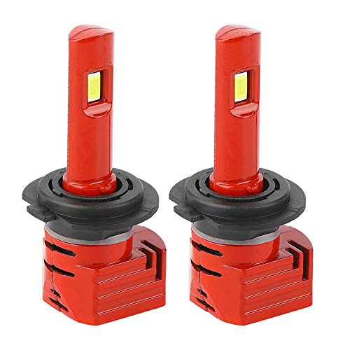 Duokon 2 stuks High Bright LED koplampen auto lamp rood auto accessoires H7 vliegtuig aluminium