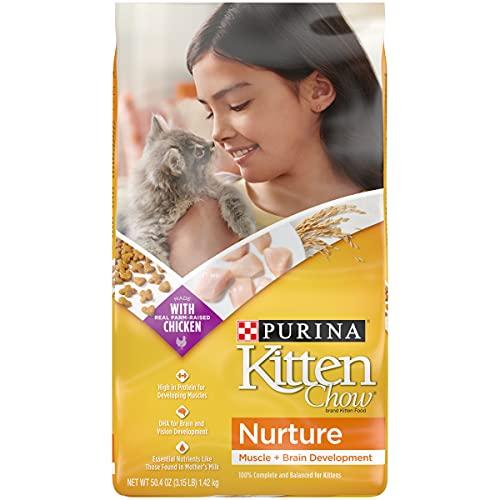 Purina Kitten Chow Dry Kitten Food, Nurture - (4) 3.15 lb. Bags