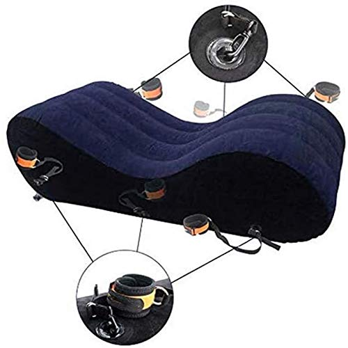 JUNMAONO Multifunktions-aufblasbares Sofa Taillenkissen, aufblasbares Körperkissen Kissen Kissen Körperliebe Position Bett Kopfkissen Tragbares Paar Freizeitmöbel