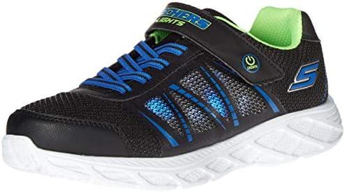 Skechers boys Lighted Lighs Lighted Sport Lighted Sneaker Black Blue Lime 12 Little Kid US product image