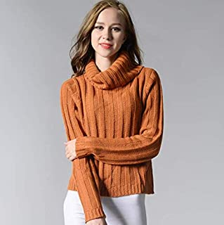 Suéteres SDJYH para Mujer, Cuello Alto, Cuello Redondo, Jersey de Punto Informal, Jersey de Manga Larga, Camisetas para Mu...