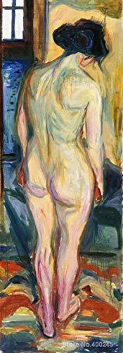 yiyiyaya Frameless Große rote Gemälde Symbolismus stehend zurück Ölgemälde von hoher Qualität handgemalt -40_X_80inch