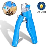 FOCUSPET Dog Nail Clippers and Trimmers, Cat Nail Clipper with LED Light Safety Guard to Avoid Over-Cutting Professional Pet Nail Trimmer Rechargeable with Free Nail File for Small Medium Large Pets