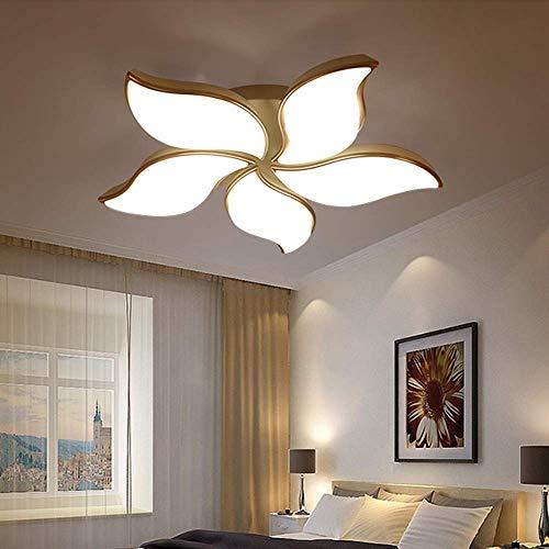 LHQ-HQ Lámpara de techo moderna y minimalista con 5 pétalos, LED, atenuación continua, moderna, para el hogar, restaurante, hotel, luces decorativas (79 x 79 x 10 cm) de alto sabor