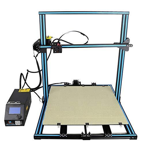 Imprimante 3D Assemblage Rapide Aluminium 3D Printer Prusa I3 Kit avec Une Tailled'impression De 500 * 500 * 500Mm,Reprise du Travail en Cas De Panne Électrique (3S Touchscreen)