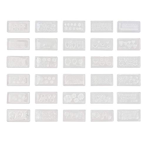Cosmos Pack of 30 Different DIY 3D Silicone Nail Art Decortive Design Mold