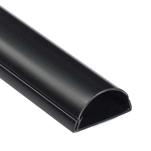 D-Line Maxi 1M5025B, Canaletas decorativas para cables de TV, Una solución cómoda que organiza y cubre los cables de TV en la pared - 50 x 25 mm y 1 metro de longitud en color negro