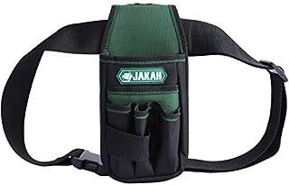 JAKAH Portaherramienta bolsa de herramientas para cinturón con 7 bolsillos y cinturón ajustable, engrosamiento de doble capa impermeable de tela Oxford para electricista, técnico de mantenimiento