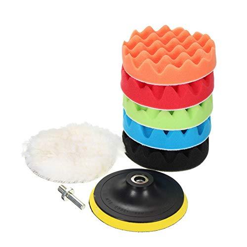 Polishing Pad 3-7 Inch Car Polishing And Waxing Sponge Polishing Disc 8-piece Set Sponge Wheel Wool Polishing Pad M14 Used for car Polishing,Sanding and Waxing ( Color : 5 inches , Size : One size )