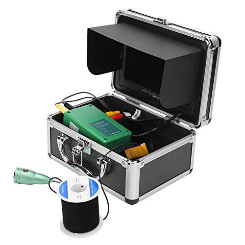 Pwshymi Videocamera Fish Finder Subacquea Regolabile 6 LED 30m Lega di Alluminio Impermeabile per monitoraggio(European regulations)