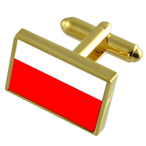 Select Gifts Stadt Lausanne Schweiz Gold Manschettenknöpfe