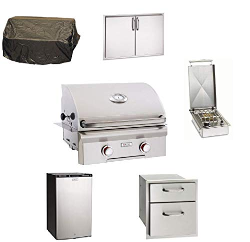"""AMS Fireplace Grill Package: AOG 24"""" Built-In""""T"""" Series 