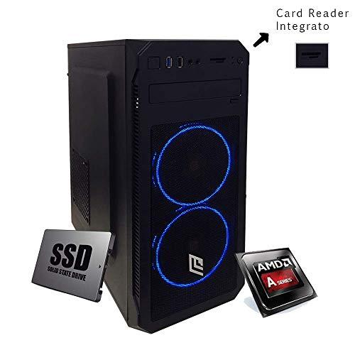 Pc desktop amd Cpu Quad Core 3,40 GHz Turbo,Ram 8Gb Ddr4,Ssd 240 Gb,Lettore masterizzatore cd dvd,Windows 10 Pro Scheda Video Radeon R7,Computer,Pc assemblato,Pc fisso ufficio casa completo