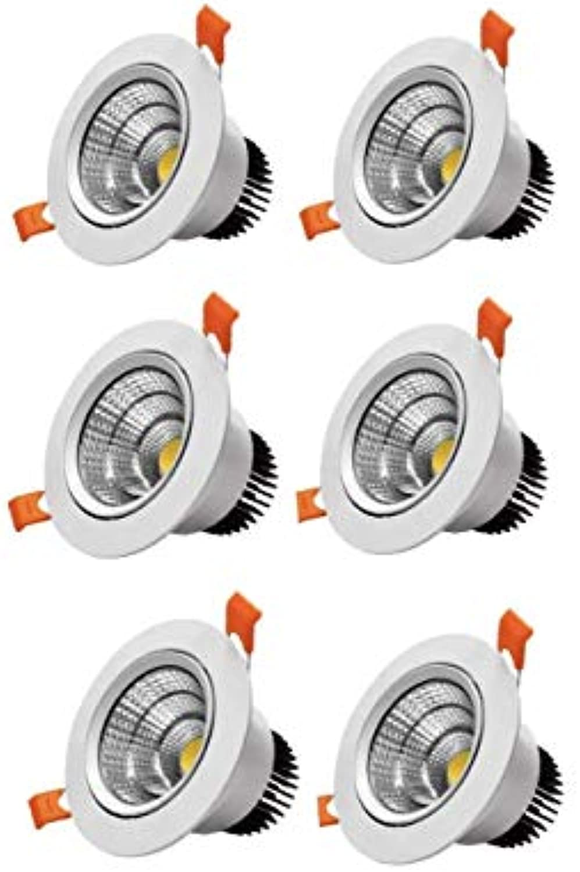 Lighting Will LED-Einbaustrahler, 12 W 15 W, CRI 80, COB-Einbauleuchte, Aussparung, 120 mm, 6er-Pack, Warm-light 12w15w9999-000403, (12W) UK