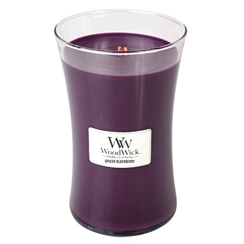 WoodWick Spiced Blackberry 215 ounce Large Jar Candle Burns 180 Hours