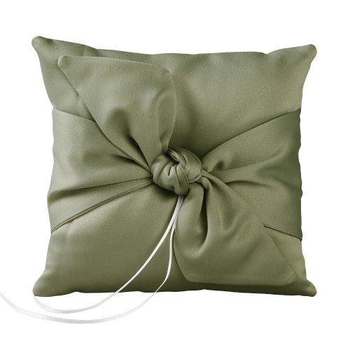 Ivy Lane Design Love Knot Ring Pillow, Sage