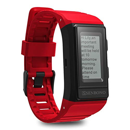 PLUIEX Reloj Inteligente GPS IP68 Impermeable Sport Smart Band Monitor Cardiaco...