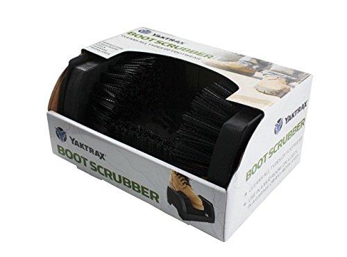 Yaktrax Boot Scrubber Boot and Shoe Scraper Brush, Black