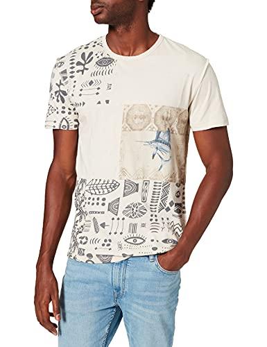 Desigual TS_Jason Camiseta, Blanco, M para Hombre