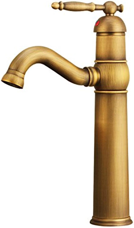 ETERNAL QUALITY Bad Waschbecken Wasserhahn Küche Waschbecken Wasserhahn Einloch-Retro-Waschtischmischer Warm Und Kalt Waschtischmischer BQ384ca