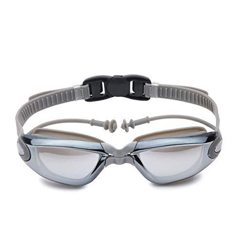 Zwemaccessoires Zwembril zwemmen veiligheidsbril Attached endoscoop pluggen for volwassen mannen vrouwen en kinderen 8+ Geen Lekkende Clip en Oordoppen (Kleur: 01Blue, Grootte: Gratis)