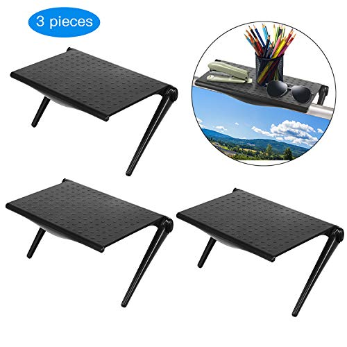 For Sale! 3 Pieces Screen Top Shelf Monitor Adjustable Screen Shelf TV Top Storage Bracket Flat Panel Mount for Streaming Devices, Media Boxes, Speakers and Home Decor